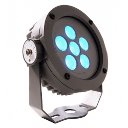 Projecteur POWER SPOT RGB 11 Watts LED - IP65 - Aluminium moulé